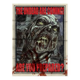 Zombie Propaganda Poster Postcard