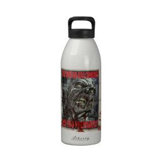 Zombie Propaganda Poster Reusable Water Bottles