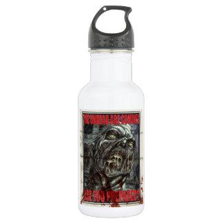 Zombie Propaganda Poster Water Bottle