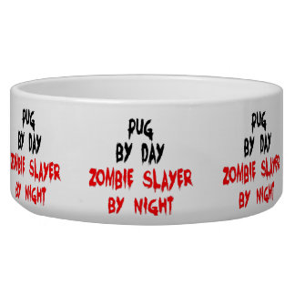 Zombie Pug Dog Joke Bowl