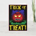 Zombie Pumpkin Cards card