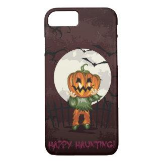 Zombie pumpkins head in graveyard Halloween iPhone 7 Case