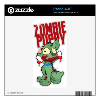 Zombie Puppy iPhone 4S Decals