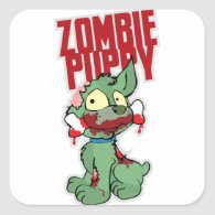 Zombie Puppy Sticker