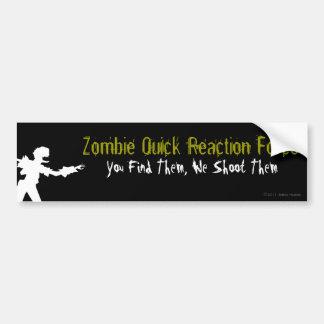 Zombie QRF Bumper Sticker