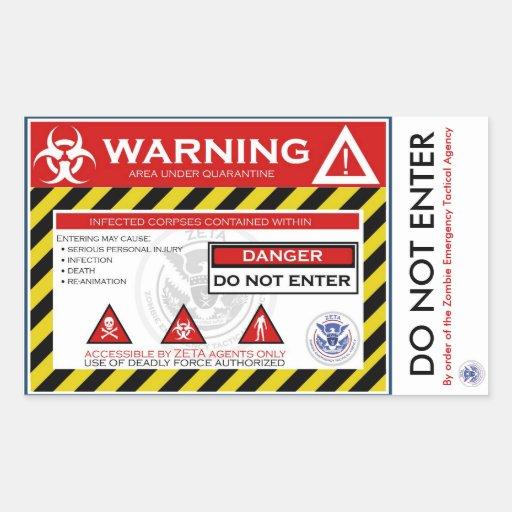 Zombie Quarantine Sticker