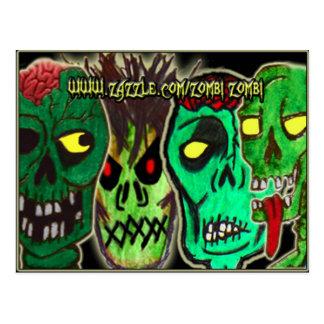 Zombie quartet postcard