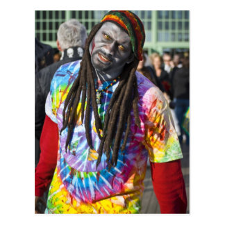 Zombie Rasta Dude Postcard