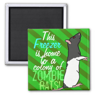 Zombie Rats style 1 Square Magnet