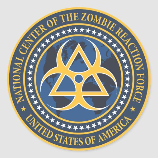 Zombie Reaction Force Seal Sticker