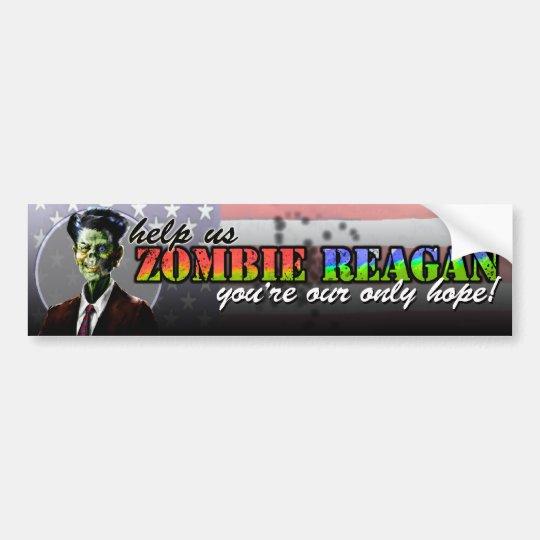 Zombie Reagan Bumper Sticker