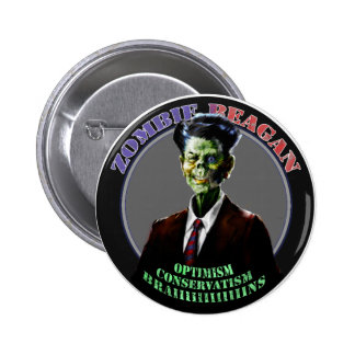 Zombie Reagan Pinback Button