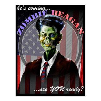 Zombie Reagan Post Card