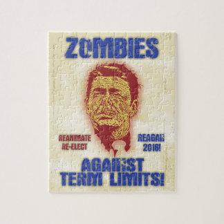Zombie Reagan - Term Limits Jigsaw Puzzle