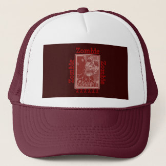Zombie Red and White Trucker Hat