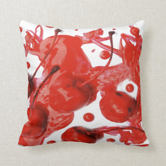 Zombie red Juice Cherry Throw pillow