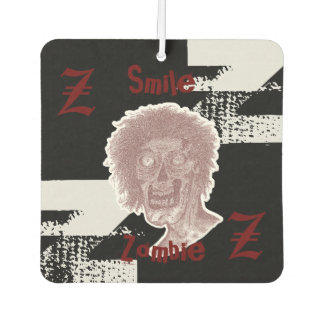 Zombie - Red/White/ on black Car Air Freshener