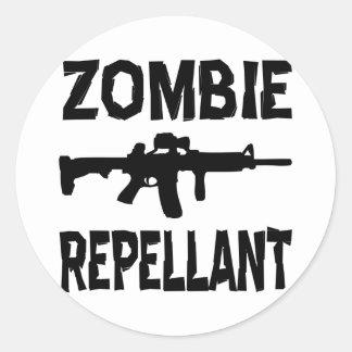 Zombie Repellant Classic Round Sticker