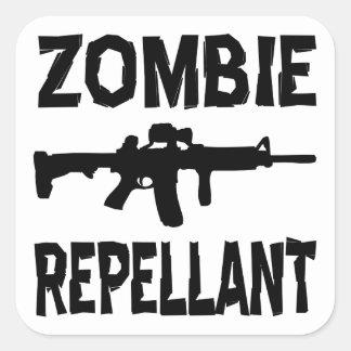 Zombie Repellant Square Sticker