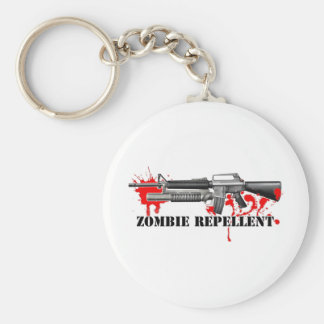 Zombie Repellent Basic Round Button Keychain