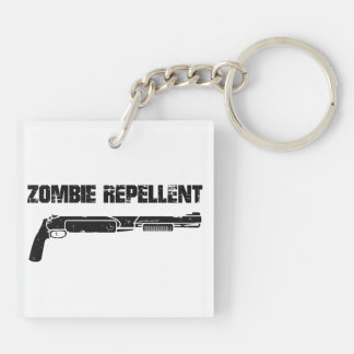 Zombie Repellent Double-Sided Square Acrylic Keychain