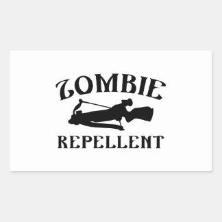 Zombie Repellent Rectangular Sticker