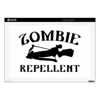 "Zombie Repellent Decals For 17"" Laptops"