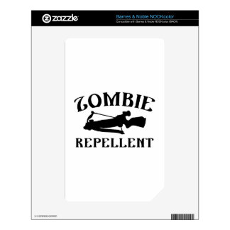 Zombie Repellent Decals For The NOOK Color