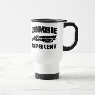 zombie repellent - the shotgun 15 oz stainless steel travel mug