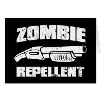 zombie repellent - the shotgun greeting card