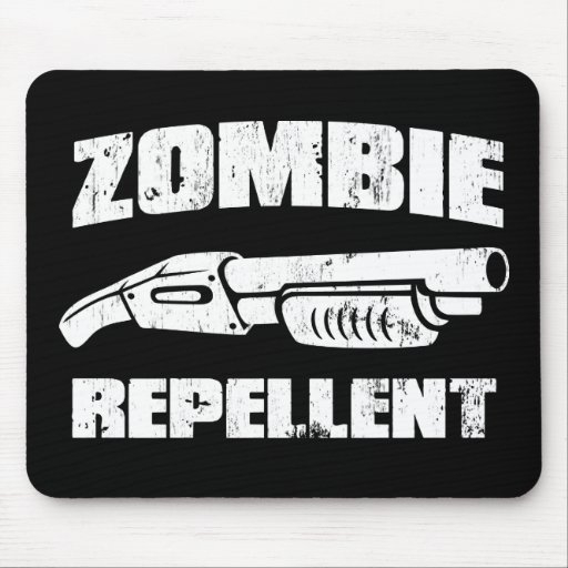 zombie repellent - the shotgun mouse pad