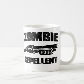 zombie repellent - the shotgun classic white coffee mug
