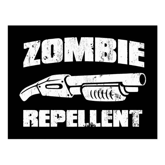 zombie repellent - the shotgun postcard