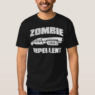 zombie repellent - the shotgun t shirt