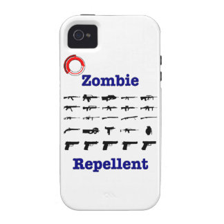 Zombie Repellent With Logo Case-Mate iPhone 4 Covers