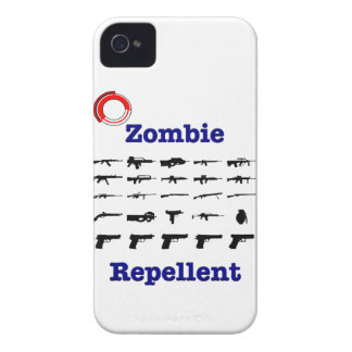 Zombie Repellent With Logo iPhone 4 Cases