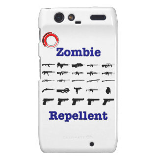 Zombie Repellent With Logo Motorola Droid RAZR Case