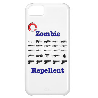 Zombie Repellent With Logo iPhone 5C Cases