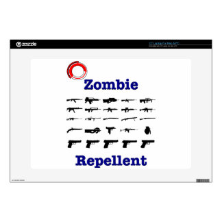 """Zombie Repellent With Logo 15"""" Laptop Skin"""