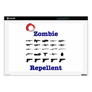 """Zombie Repellent With Logo Skins For 17"""" Laptops"""