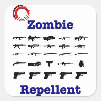 Zombie Repellent With Logo Square Sticker