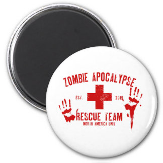 Zombie Rescue Team.png 2 Inch Round Magnet