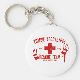 Zombie Rescue Team.png Basic Round Button Keychain