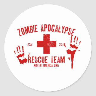 Zombie Rescue Team.png Classic Round Sticker