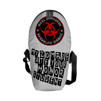 Zombie Response Ate Your Honor Student Bag Funny