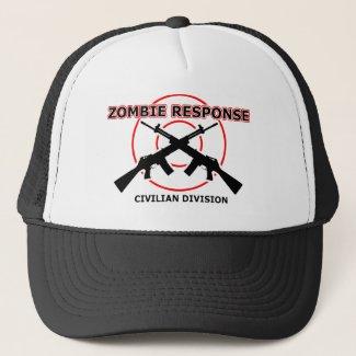 Zombie Response Funny Hat Cap Humor