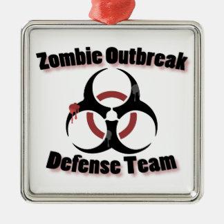 Zombie Response Metal Ornament