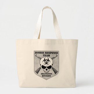 Zombie Response Team: Arlington Division Large Tote Bag