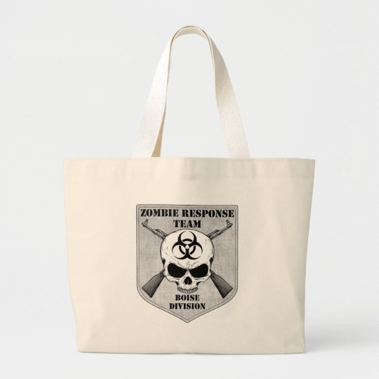 Zombie Response Team: Boise Division Large Tote Bag