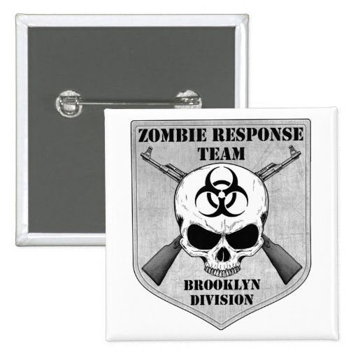 Zombie Response Team: Brooklyn Division 2 Inch Square Button